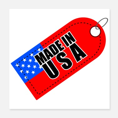Production Year Made in USA Label - Gift Idea - Poster
