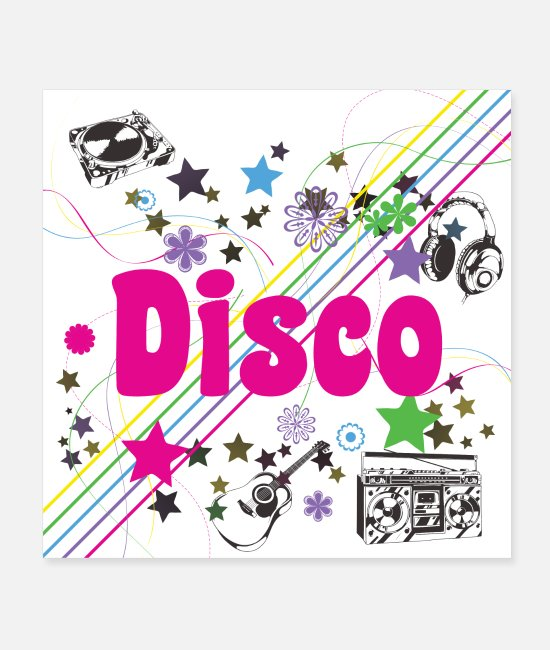 Retro 70s Posters - Disco 70s - Oldies 70s - 70s Party - Posters white