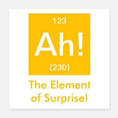 Element ah element of surprise - Poster 20x20 cm