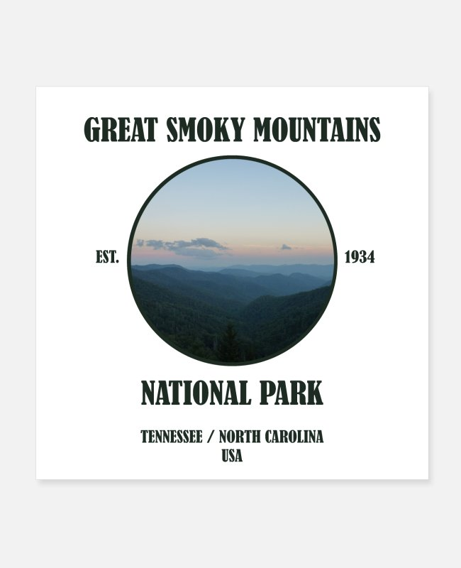 North Carolina Posters - Great Smoky Mountains National Park Tennessee USA - Posters white