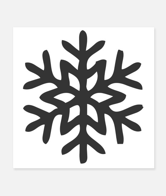 Winter Posters - snowflake - Posters white