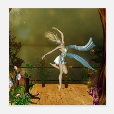 Tanzen Wonderful fairy with flowers - Poster