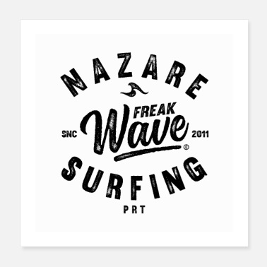 Portugal NAZARE FREAK WAVE SURFING PORTUGAL - Poster
