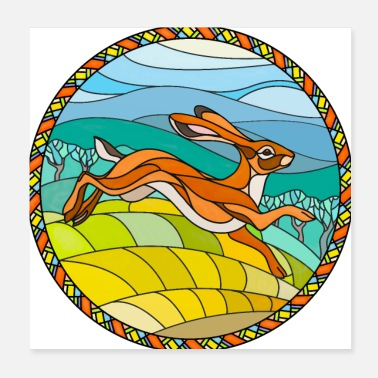 Mythology Hare In Glass - Poster