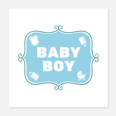 Parents Baby Boy - Blue - English - Poster