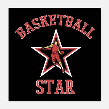 Balsport Basketball Star Basketballer Speler Fan Gift - Poster 20x20 cm