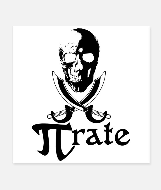 Adventure Posters - Pirate Flag Skull Swords Gift Idea - Posters white