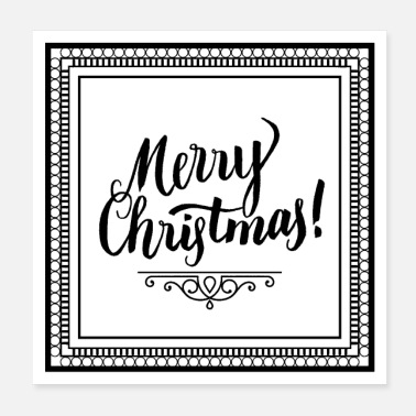 Merry Merry Christmas black font - Poster