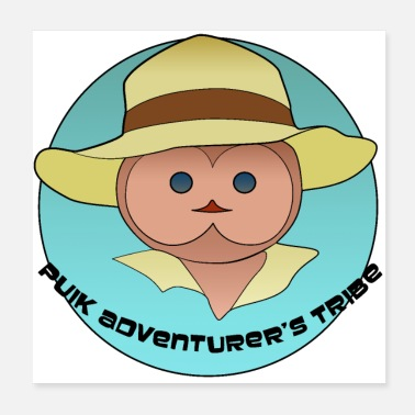 Emblem Tribe of the adventurer Puik 2 - Poster 20x20 cm