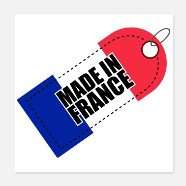 Production Year Made in France Flag of France Tricolor - Poster
