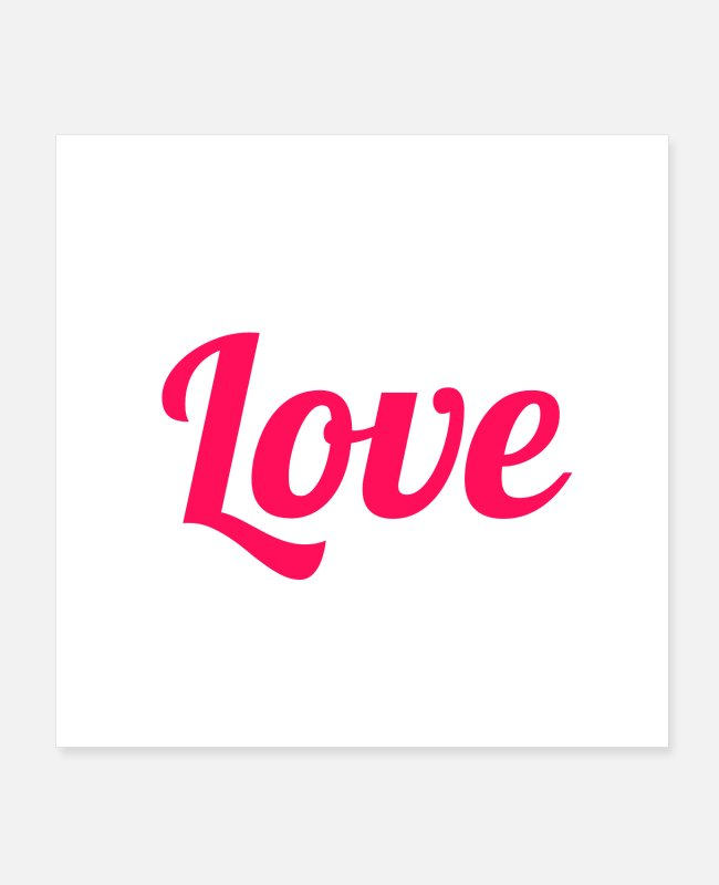 Gift Posters - Love - Engels - Pink - Posters wit