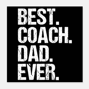 Baseball BEST COACH DAD EVER - Juliste 20 x 20 cm