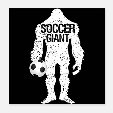 Goalkeeper SOCCER GIANT Father's Day Gift - Poster 20x20 cm