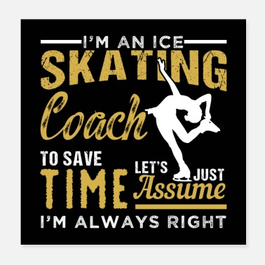 Coach ICE SKATING COACH - Poster