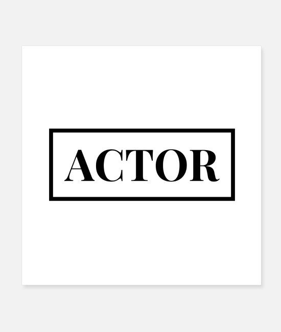 Movie Posters - actor - Posters white