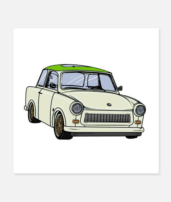 Trabant Poster - trabideluxepapyrus - Poster Weiß