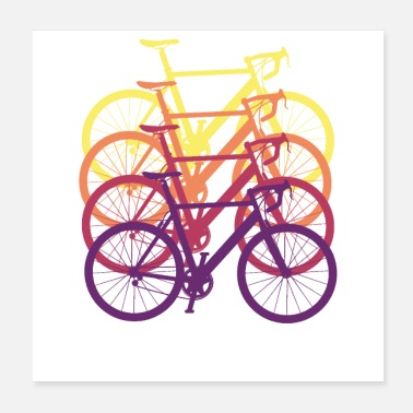 Racing Bike Road bike bike driver gift racing jersey - Poster