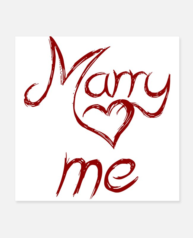 Engagement Posters - marry me - marry me - Posters white