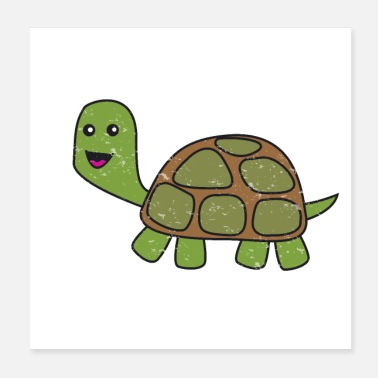 Serenity Turtle pet animal for kids - Poster