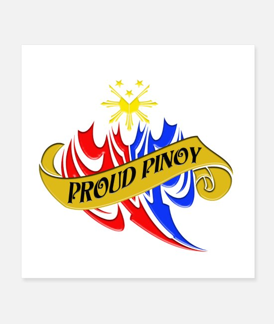 Exklusiv Poster - Proud Pinoy - Poster Weiß