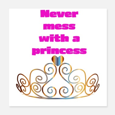 Corona Never mess with a princess - Poster