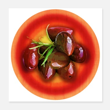 Lunch Break Plate with olives - Poster