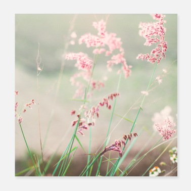 Natural Summer meadow watercolor nature - Poster