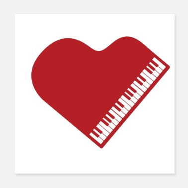 Piano Wing Gift idea for pianist - grand piano - Poster