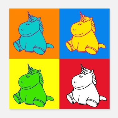 Pop Music Unicorn Pop Art - Poster