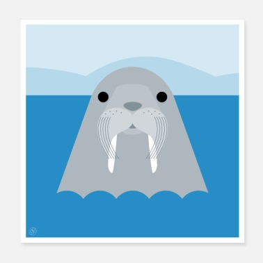 Sea Walrus - poster - Poster