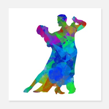 Dance dancing couple | Abstract art - Poster