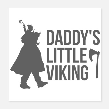 Daddy Viking Daddyn pikku Viking-lahja-idea - Juliste