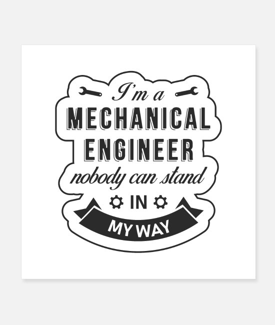Occupation Posters - Mechanical engineer - Posters white