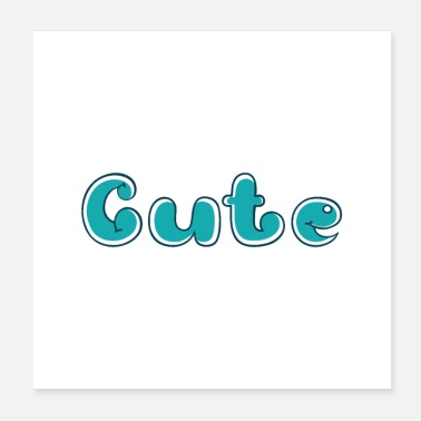 Writing Cute - Poster