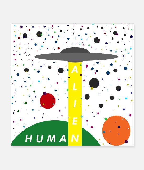 Galaxie Posters - Alien vs. Humain - Posters blanc