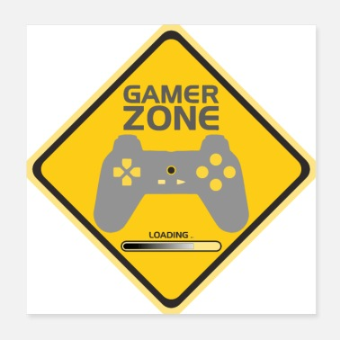 Gamer Gamer Zone / Players Zone - Poster