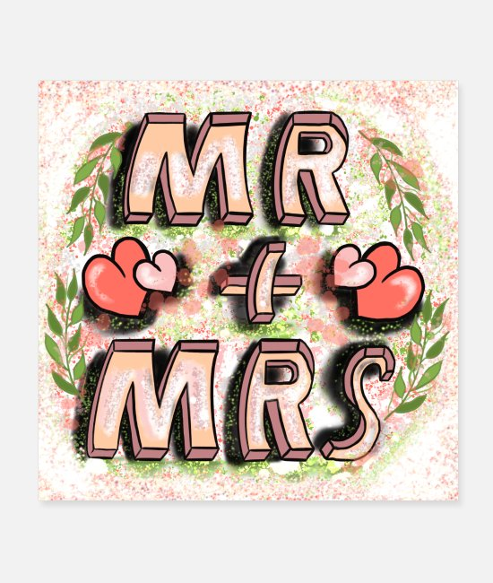 Love Posters - Mr and Mrs Corona face mask - Posters white