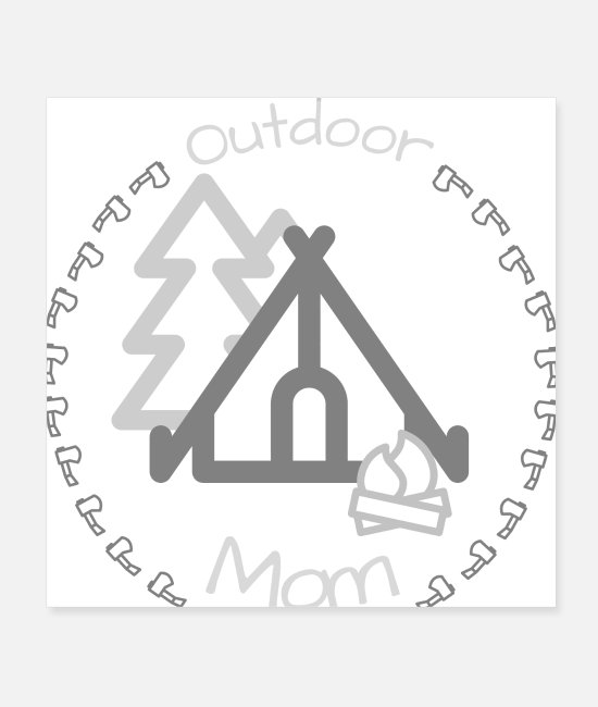Love Posters - Outdoor Mom Gift Camping Mom Mom Nature - Posters white