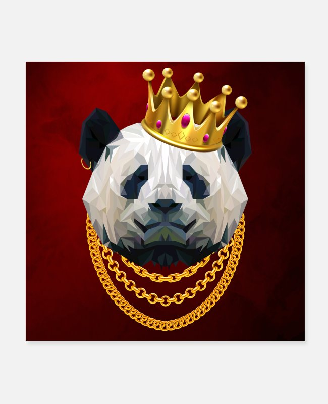 1920s Posters - King of Pandas - Posters white