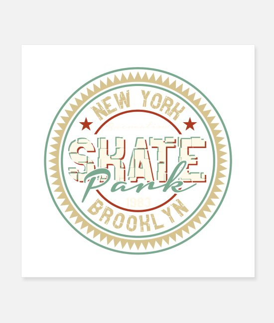 New York City Posters - SKATE - Posters white