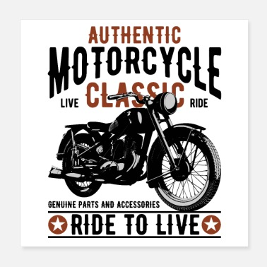 Old School MOTO AUTHENTIQUE - Poster