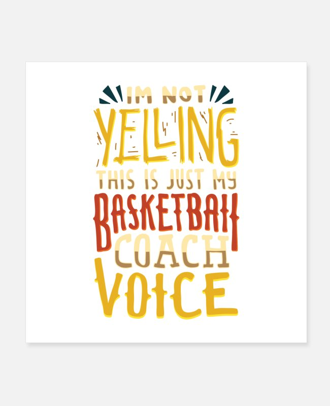 Competition Posters - This Is Just My Basketball Coach Voice Gift - Posters white