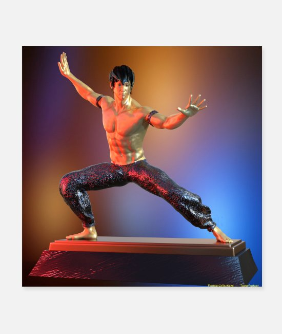 Martial Arts Posters - METAL ARTS MARTIAL STATUETTE 3 - Posters white