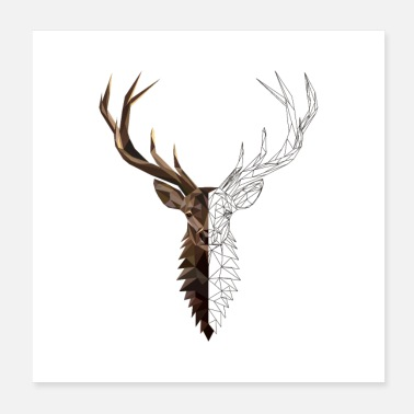Hirsch Stag polygon kunst - Poster