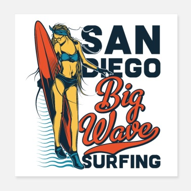 San Diego BIG WAVE - Poster