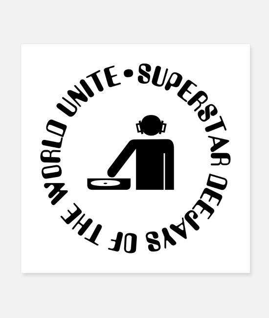 Birthday Posters - Unite Superstar Deejay of the World - Posters white