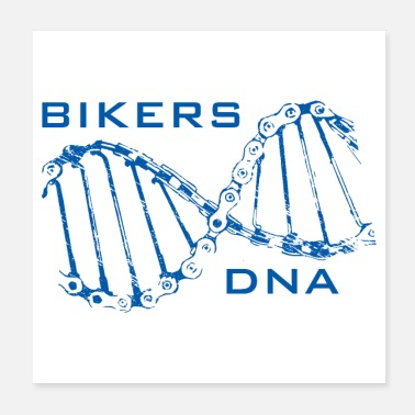 Bicycle Bikers DNA Bicycle Gift - Poster