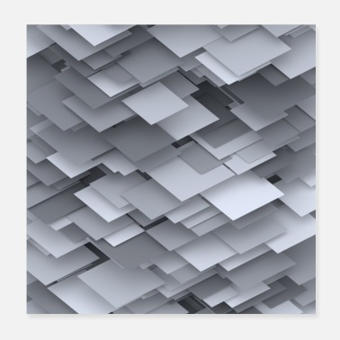 Squares square plates - Poster