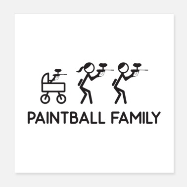 Family Paintball Family Gift - Poster
