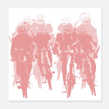 Sprinting Sprint cyclists ~ Cycling - Poster
